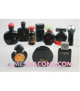 Lot de 10 miniatures mixtes de couleur noire (marques diverses)